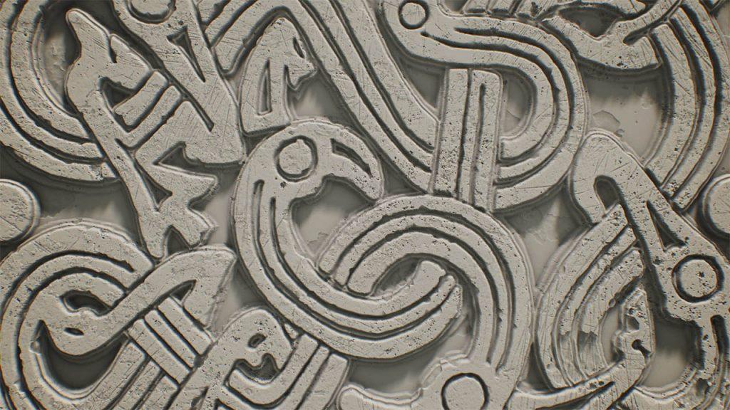 三维装饰纹理图案/石雕制作教程 Substance Designer, ZBrush, Maya和Marmoset Toolbag
