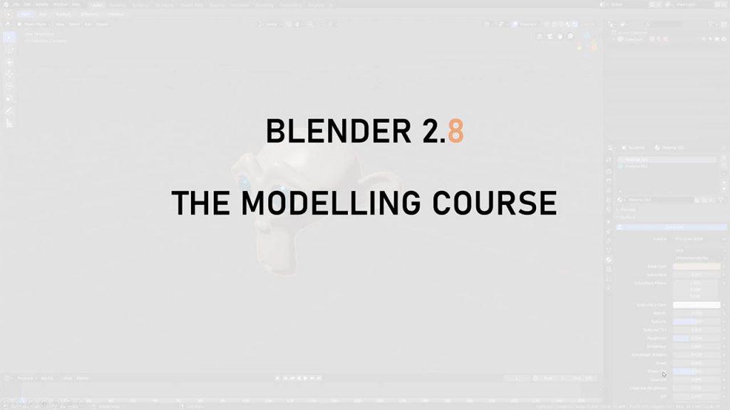 Blender 2.8初学者入门建模教程