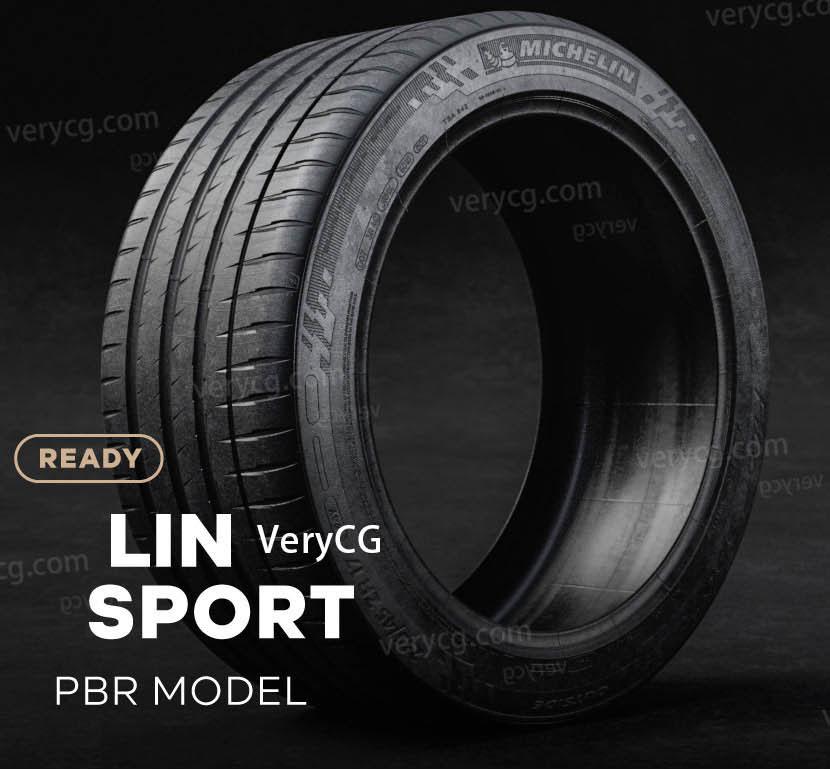 米其林轮胎模型,4K照片级PBR 汽车轮胎模型