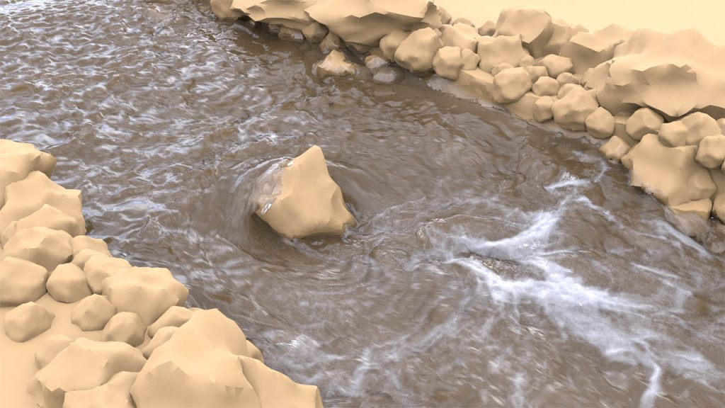Houdini 液体流体特效教程 HOUDINI制作河水流淌效果