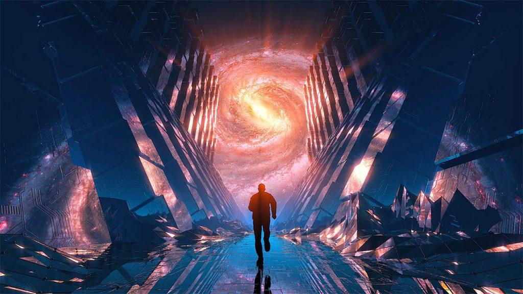 Cinema 4D和After Effects三维电影科幻场景 C4D空间循环动画