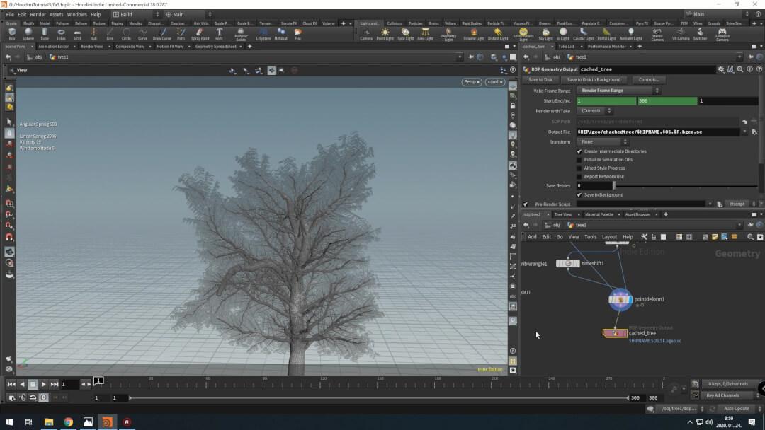 Houdini Tree Rig With Vellum Leaves – CGCircuit