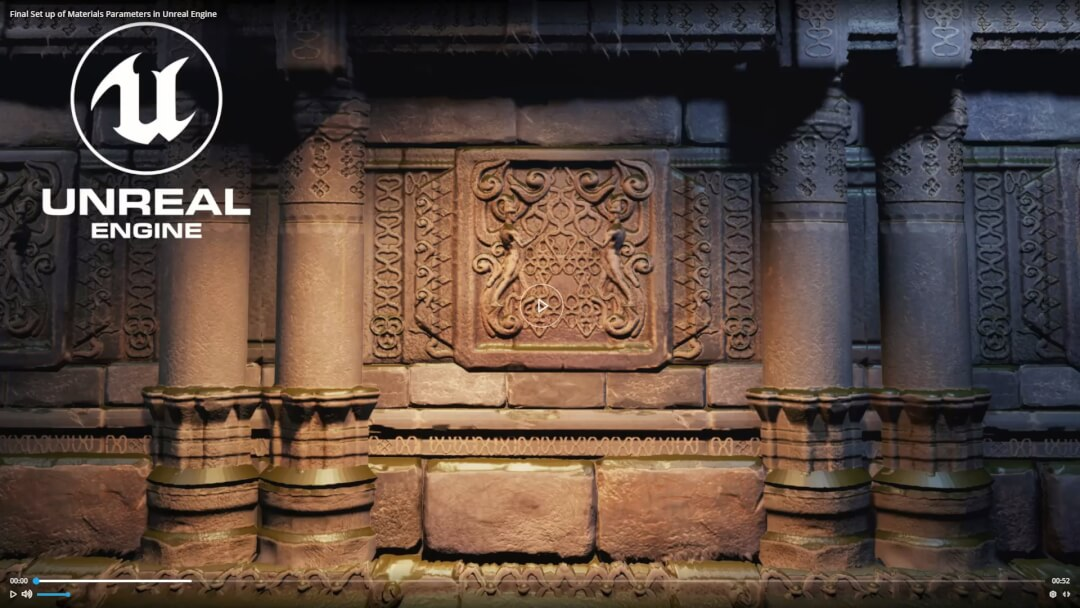 Zbrush & UE4 Creating Temple Walls Using Tillable Materials – Artstation