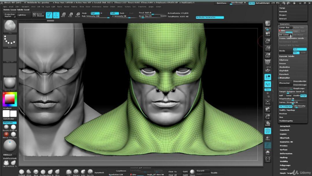 Zbrush雕刻3D蝙蝠侠角色 Batman Creating 3D superhero characters in Zbrush Vol 1 & 2