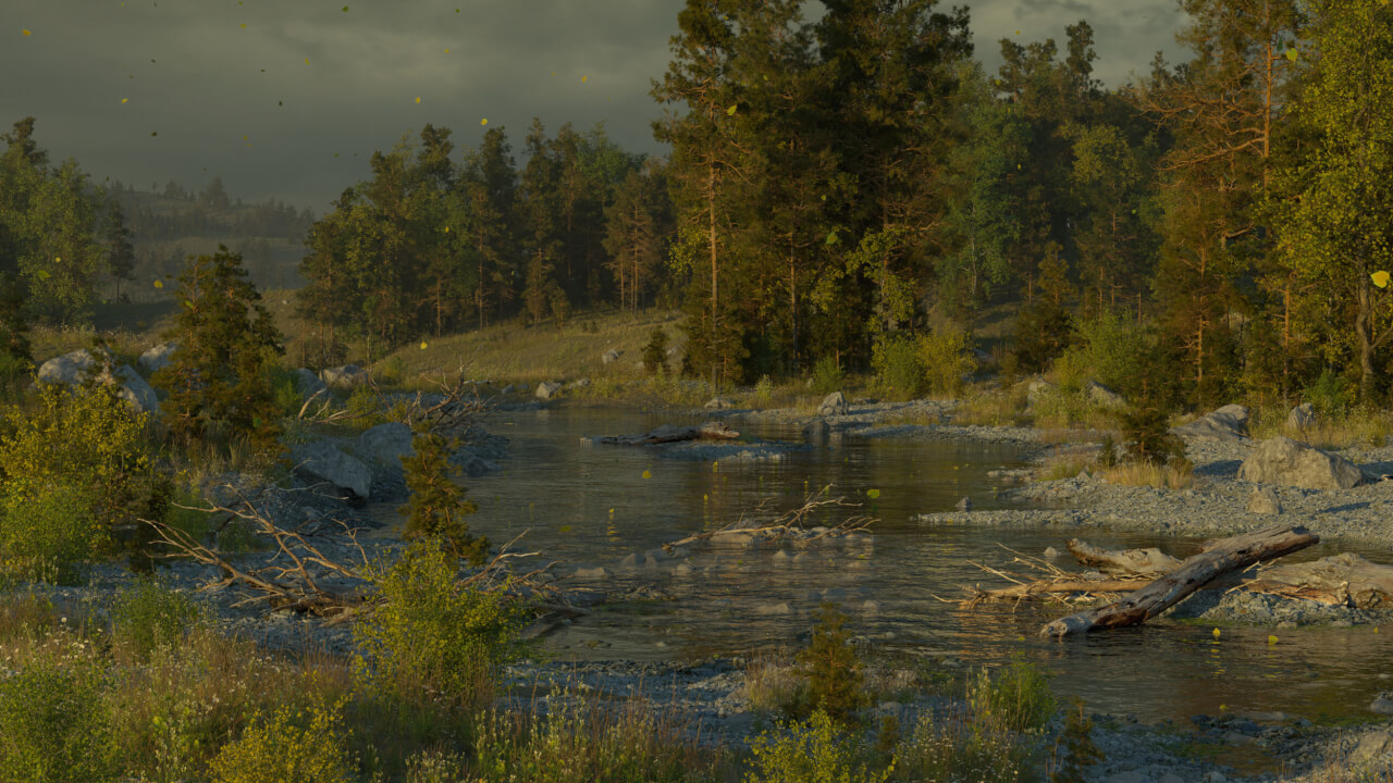 C4D+Octane 河流三维自然场景 Creating Rivers Using Octane and Cinema 4D