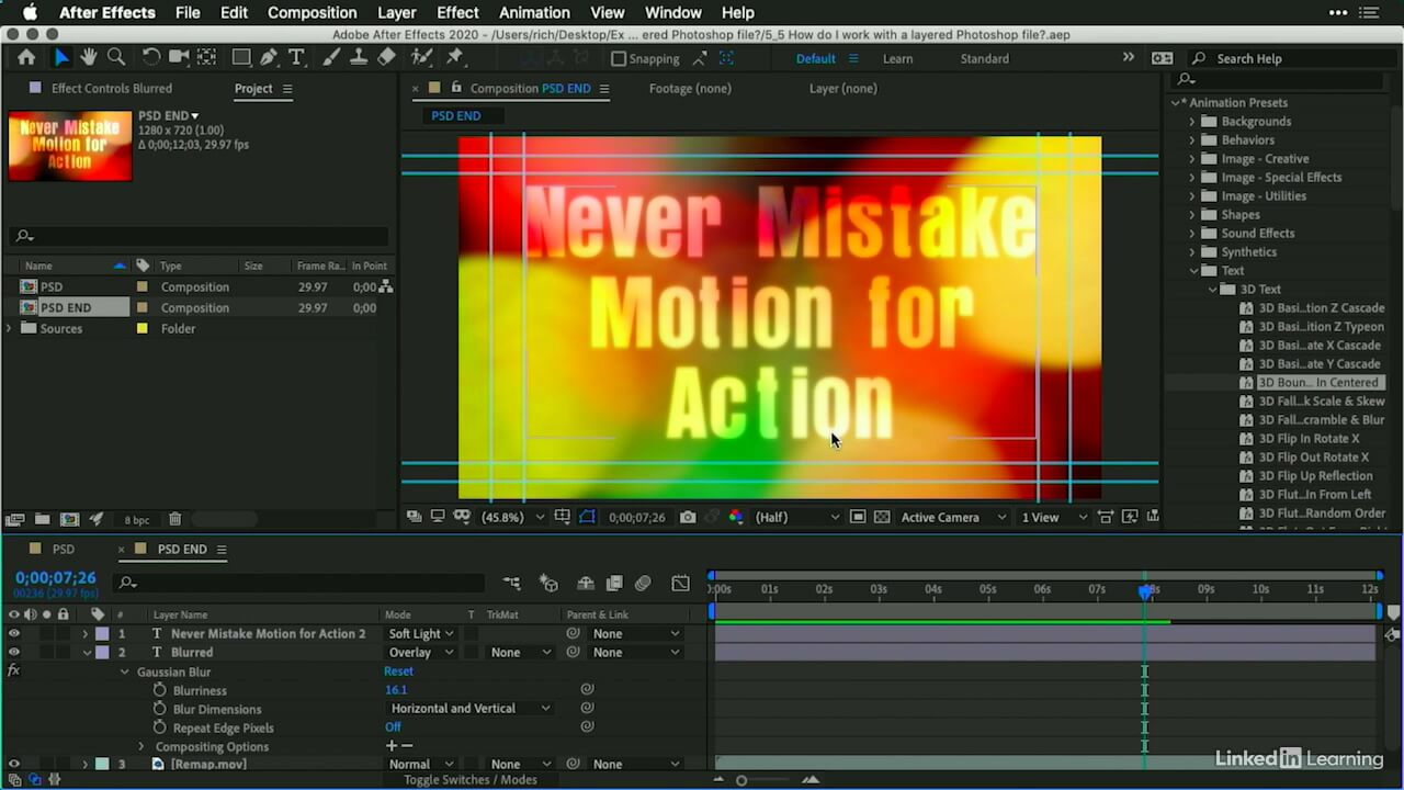 AE实拍视频处理教程 How Do I Do That in After Effects